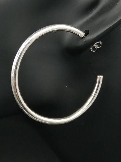925 Silver Wedd Stud Hoop Earrings