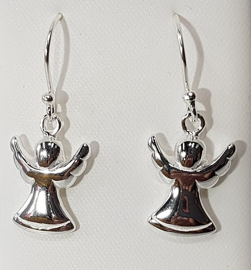 925 Sterling Silver Angel Drop Earrings