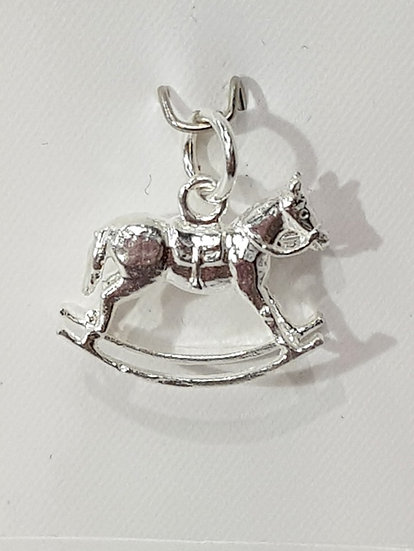 925 Sterling Silver Rocking Horse Charm