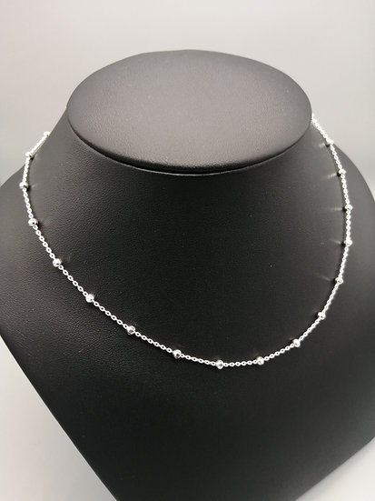 925 Silver D/C Beads Trace Chain