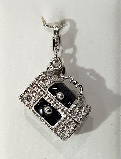925 Sterling Silver Treasure Chest Charm