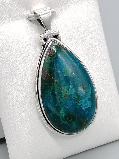 925 Silver Chrysocolla Waterdrop Pendant