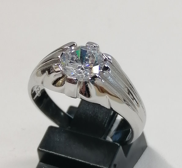 925 Silver CZ Claw Solitaire Ring