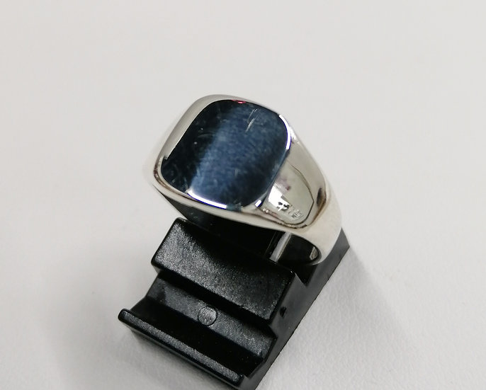 925 Silver Plain Cushion Signet Ring
