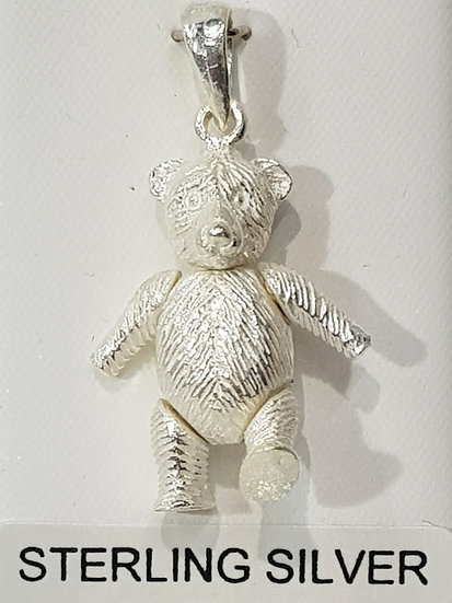 925 Sterling Silver Movable Teddy