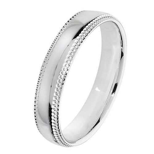 925 Silver 4mm Bead Edge Band - Court - Special Order*