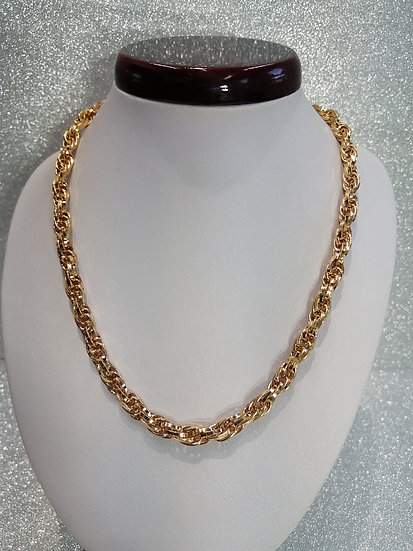 Rose Gold Rope Twist Chain