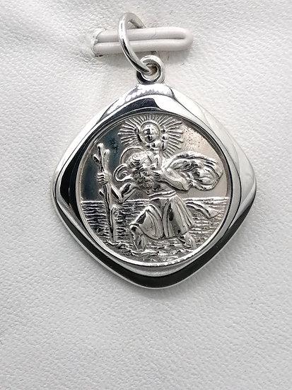 925 Silver Diamond LSA St Christopher
