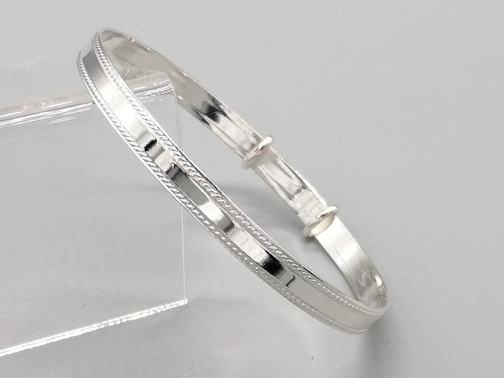 925 Silver Rope Edge Bangle
