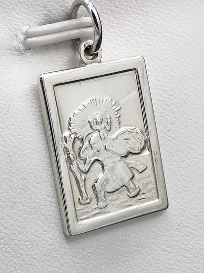 925 Silver Frame St Christopher