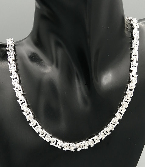 925 Silver Flat Byzantine Chain