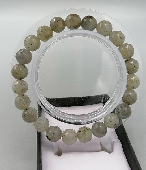 Natural Labradorite Bead Bracelet