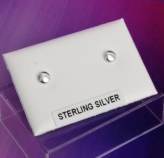 925 Silver Button Bead Earrings