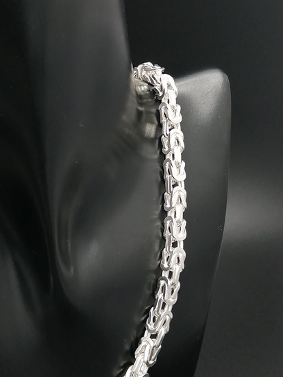 925 Silver Chunky Square Byzantine Chain