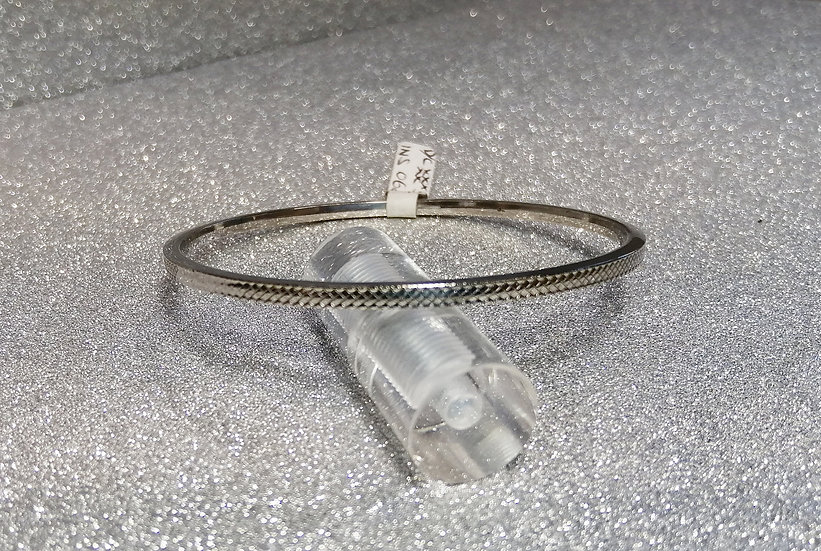 925 Sterling Silver Chain Engraved Bangle