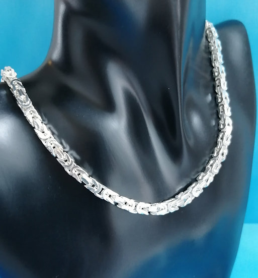 925 Silver Square Byzantine Style Chain