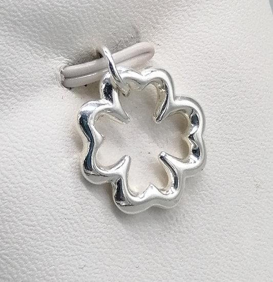 925 Silver Open Clover Charm