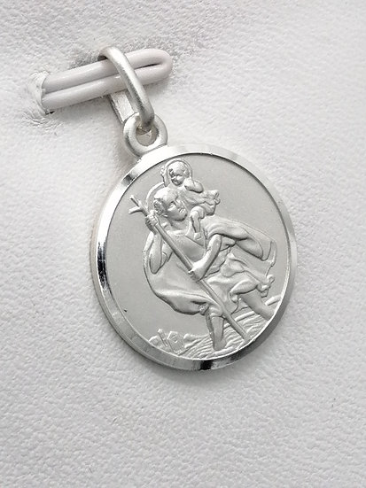 925 Silver Double Sided LSA St Christopher