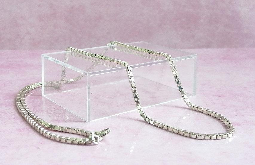 925 Silver Square Box Chain