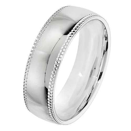 925 Silver 6mm Bead Edge Band - Court - Special Order*