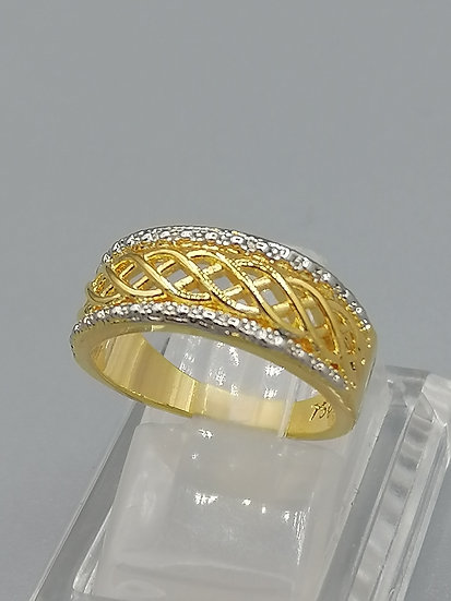 Gold Woven Band Ring