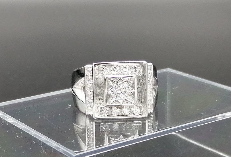 925 Silver CZ Star Bling Ring
