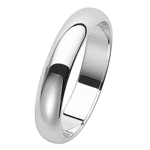 925 Silver 4mm Plain Band - D/Shape - Special Order*