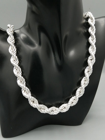 925 Silver Chunky Rope Chain