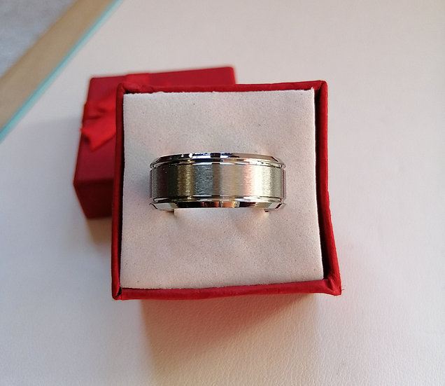 8mm Matt Finished Stainless Steel Band Ring