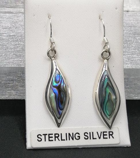 925 Silver Abalone Shell Drop Earrings