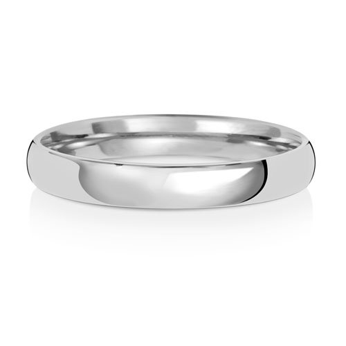 9ct White Gold 3mm Plain Soft Court Band - Special Order*