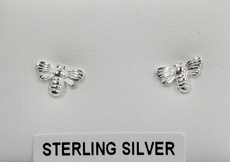 925 Silver Bee Stud Earrings