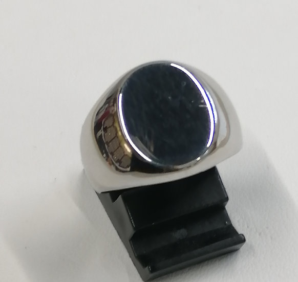 925 Silver Plain Oval Signet Ring