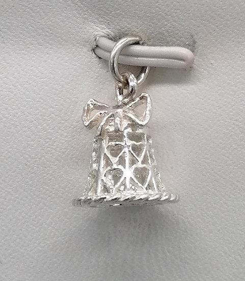 925 Silver Filigree Bell Charm