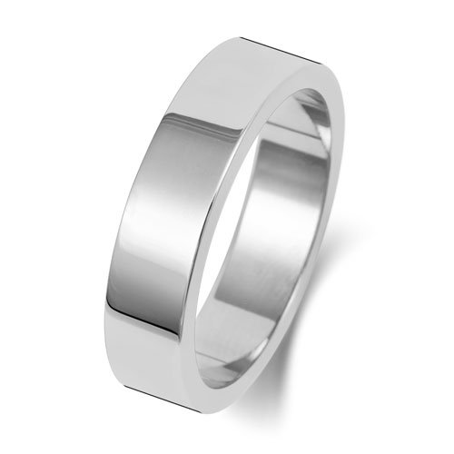 9ct White Gold 6mm Flat Finish Band - Special Order*