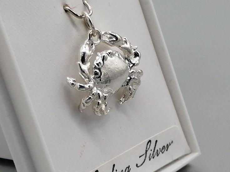 925 Silver Crab Charm