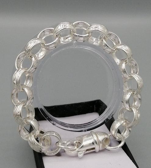 925 Silver Plain & Patterned Belcher Bracelet