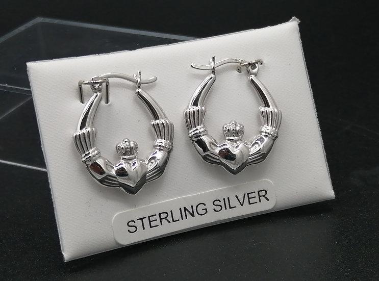 925 Silver Claddagh Earrings