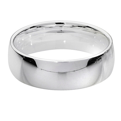925 Silver 6mm Plain Band - Court - Special Order*
