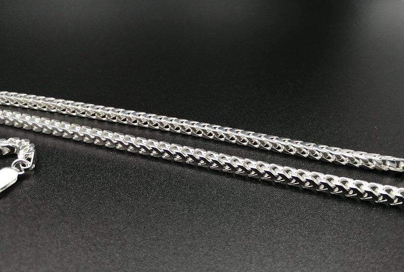 925 Silver Polished Franco Chain