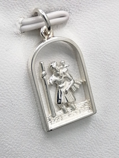 925 Silver Arch Cut Out St Christopher