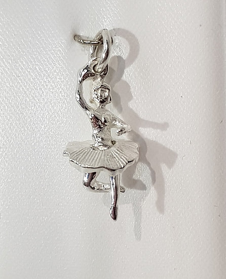 925 Sterling Silver Ballerina Charm