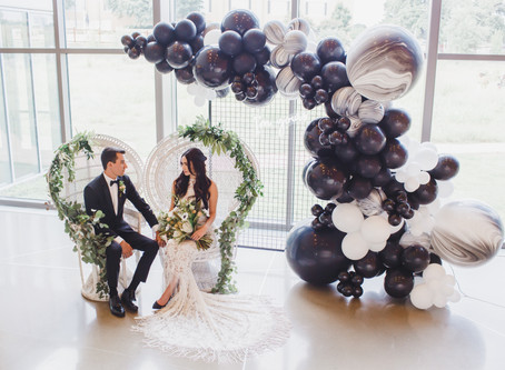 'The Perfect Palette' Publication - Black & White Boho Styled Shoot, BRIT Fort Worth