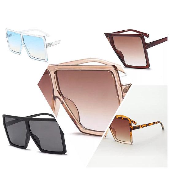 Gloss oversized shades