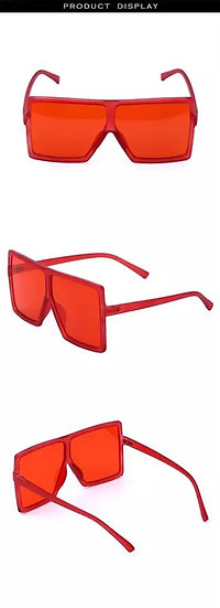 Foxy Red Oversized Shades