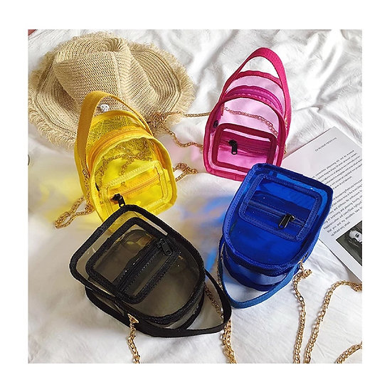 Transparent Solid Color Bags