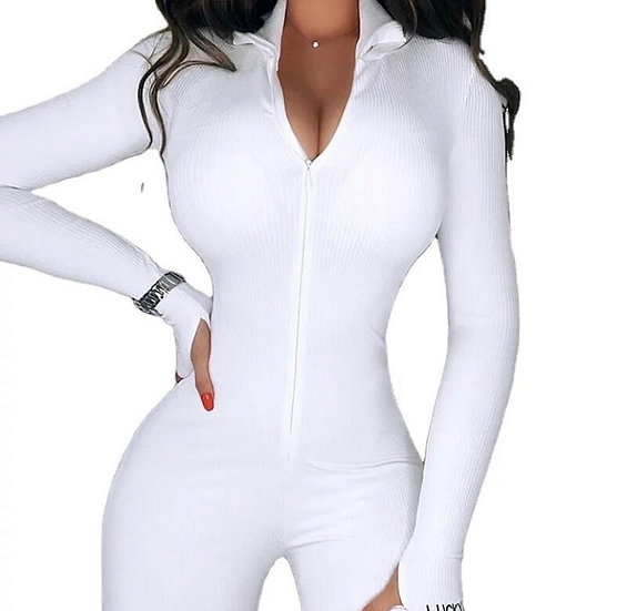 Long Sleeved Ribbed One Piece