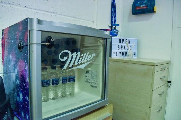 Drinks Fridge Open Space Plymouth