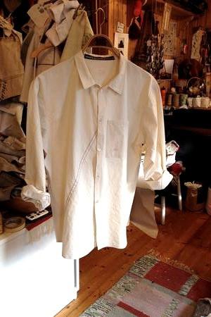 Herrskjorta av segelduk