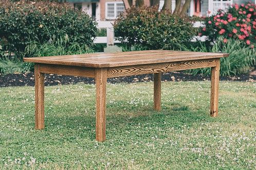 "Reclaimed White Oak Farm Table - ""The Cape Charles."""